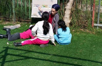 מרכז צפרות בגננו -הילדים למדו לזהות סוגי ציפורים.