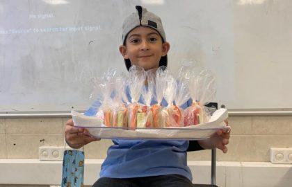 תודה רבה לאור חיים ולאמו היקרה על הכנת מארז ירקות אישי לכל תלמיד .לכבוד למידת האות י' -כל הכבוד!
