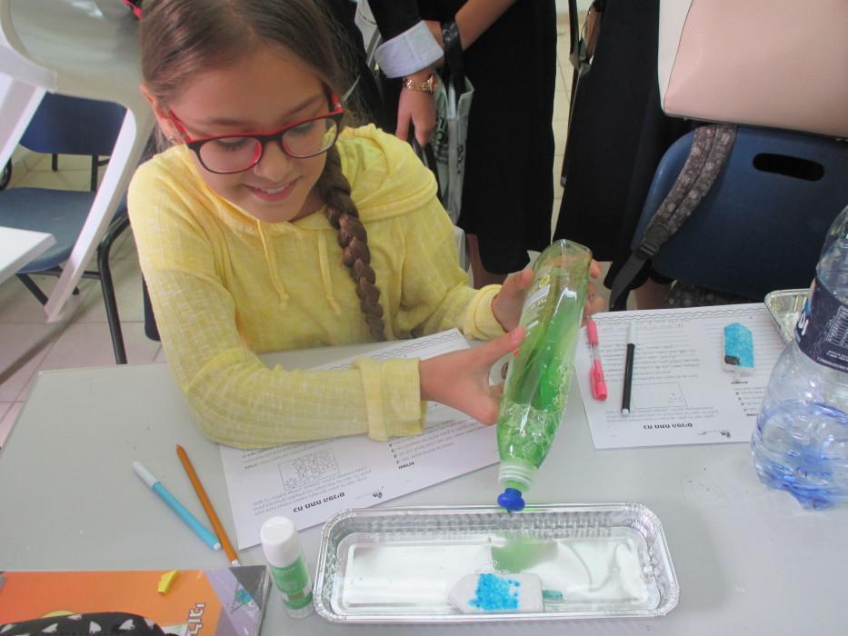 כח מתח הפנים של המים-שיעור מדעים בכיתה ה'2