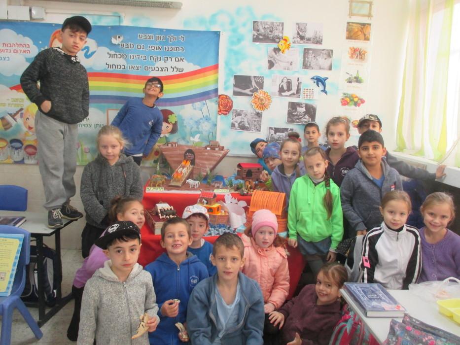 ילדי כיתה ב' למדו על תיבת נח ויצרו יצירות מופת,תיבות עם 3 קומות ,מוצגים והמחשות ניתן להתפעל כמה הילדים התחברו והבינו היטב את הנלמד.